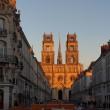 Orléans : cathédrale Sainte-Croix vue de la rue Jeanne d'Arc