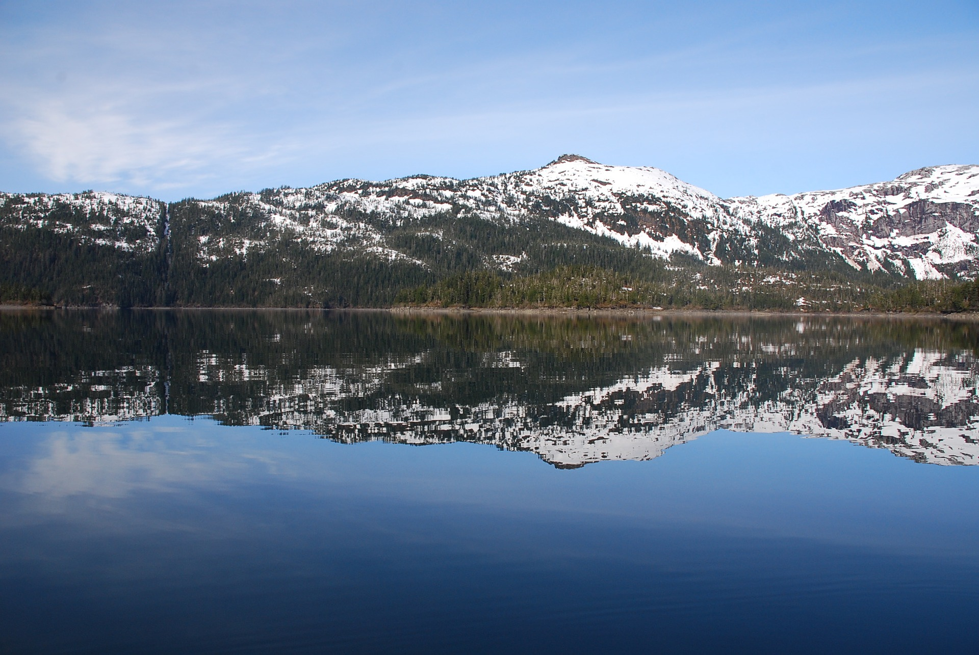 Paysage d'Alaska : baie du Prince William